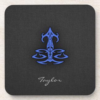 Royal Blue Libra Coasters