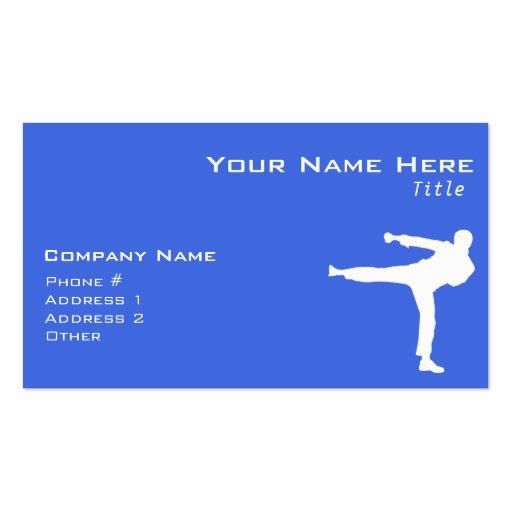 Royal Blue Martial Arts Business Card