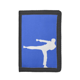 Royal Blue Martial Arts Tri-fold Wallet