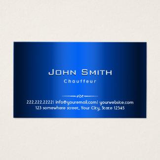 Royal Blue Metal Chauffeur Business Card