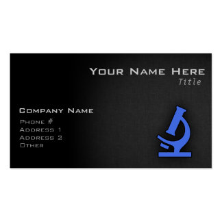 Royal Blue Microscope Business Card