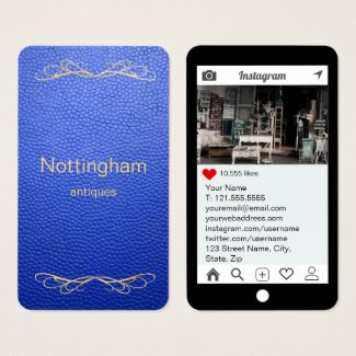 Royal Blue Mock Leather Instagram Style