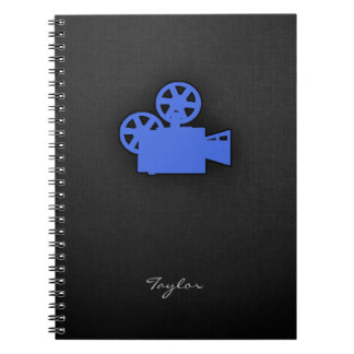 Royal Blue Movie Camera Notebooks