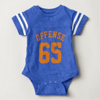 Royal Blue & Orange Baby   Sports Jersey Design Baby Bodysuit
