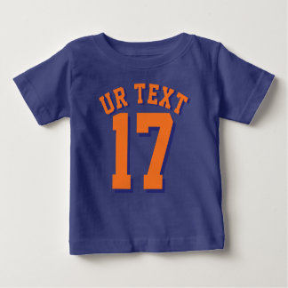 Royal Blue & Orange Baby   Sports Jersey Tee Shirt