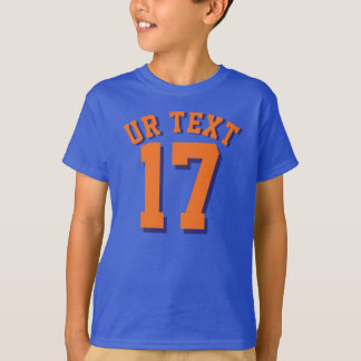 Royal Blue & Orange Kids | Sports Jersey Design T-Shirt