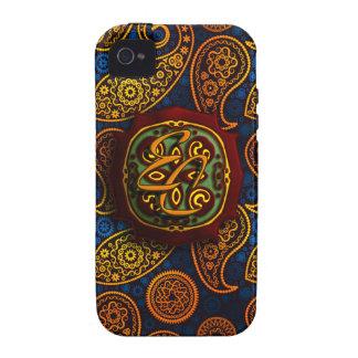 Royal Blue Paisley iPhone 4 Case