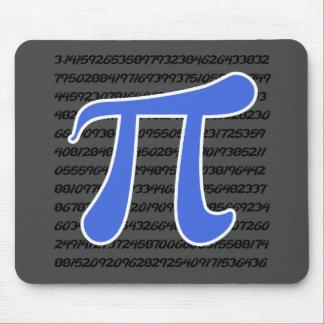 Royal Blue Pi Symbol Mouse Pad