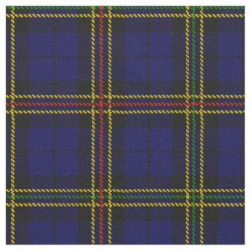 Royal blue plaid - yellow, red, green black