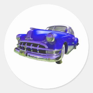 Royal Blue Pontiac Round Sticker