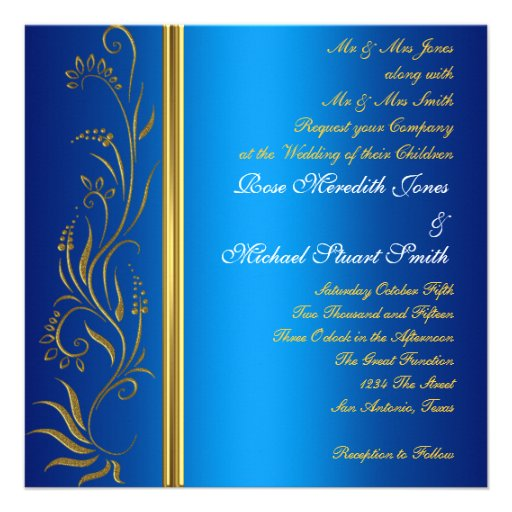 Royal Blue Popular Wedding Invitation Invites