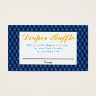 Royal Blue Prince & Crown Diaper Raffle Business Card