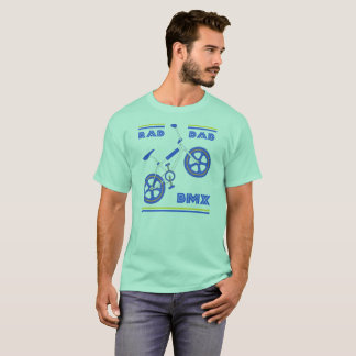 Royal Blue Rad Dad BMX T-Shirt