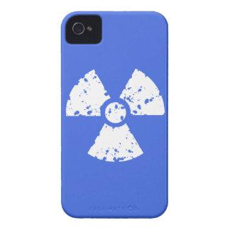 Royal Blue Radioactive Symbol iPhone 4 Cases