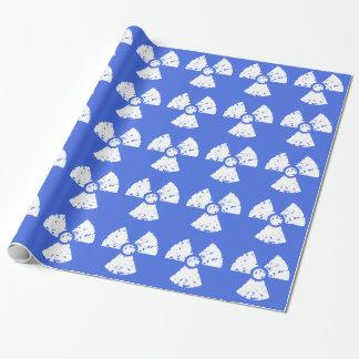 Royal Blue Radioactive Symbol Wrapping Paper