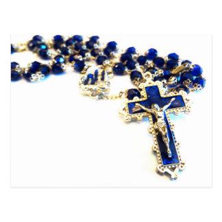 Royal Blue Rosary Postcard