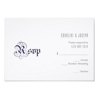 'ROYAL BLUE' RSVP Design Card