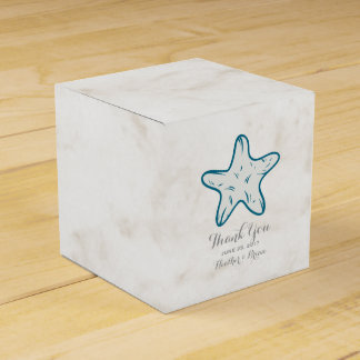 Royal Blue Rustic Starfish Wedding Wedding Favour Box