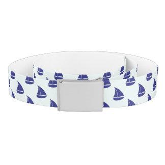 Royal Blue Sailboat Pattern Belt