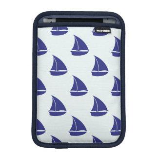 Royal Blue Sailboat Pattern iPad Mini Sleeve