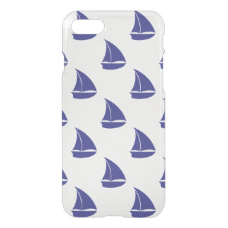 Royal Blue Sailboat Pattern iPhone 8/7 Case