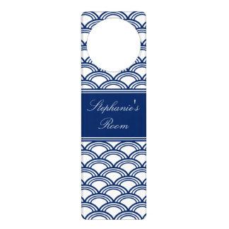 Royal Blue Seigaiha Pattern Door Hanger