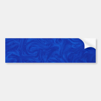 Royal Blue Tonal Abstract Swirled Background Bumper Sticker