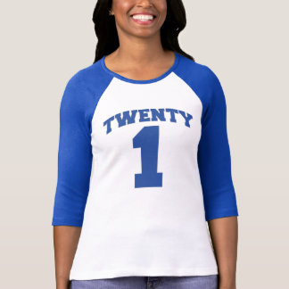 Royal Blue TWENTY1 Milestone Birthday Tee