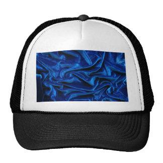 Royal blue velvet silk textile elegant chic trucker hat