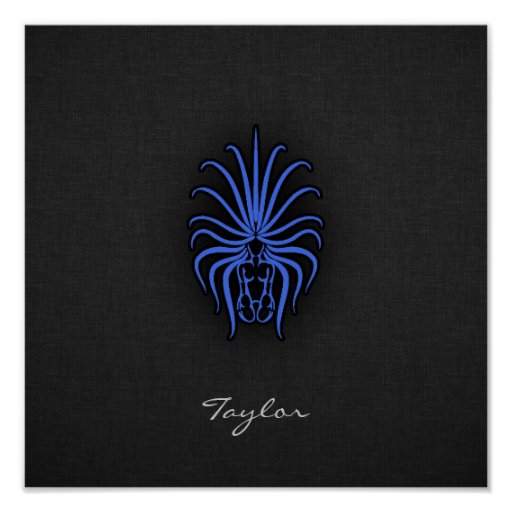 Royal Blue Virgo Posters