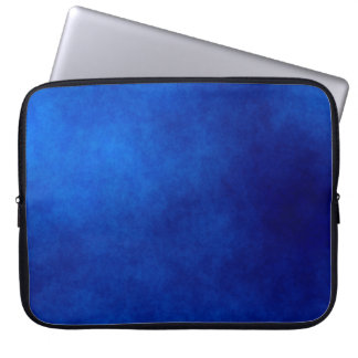 Royal Blue Watercolor Abstract Laptop Sleeve