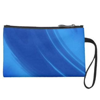 Royal Blue Waves Clutch Bag