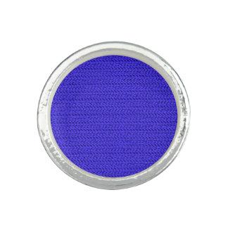 Royal Blue Weave Look Rings