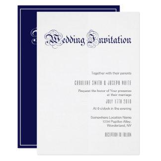 'ROYAL BLUE' Wedding Invitation Design