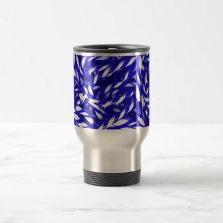ROYAL BLUE WHITE CANDYCANE STRIPES DIGITAL REALISM COFFEE MUG