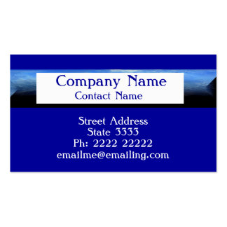 Royal Blue with White Business Cards