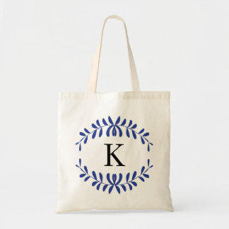 Royal Blue Wreath Personalized Monogram Bags