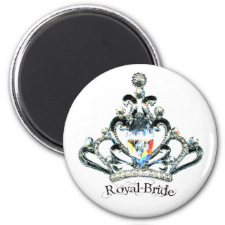 """Royal Bride"" Tiara magnets"