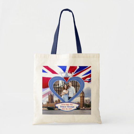 Royal British Baby Prince George Canvas Bags