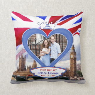 Royal British Baby Prince George Throw Pillow