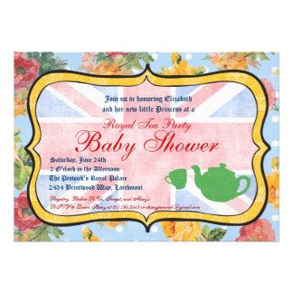 Royal British Baby Shower Invitation