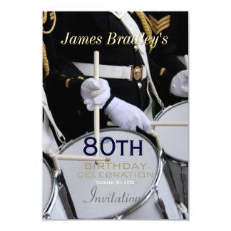 Royal British Band 80th Birthday Celebration 9 Cm X 13 Cm Invitation Card