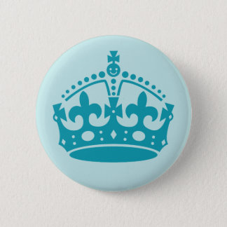 Royal British Crown 6 Cm Round Badge