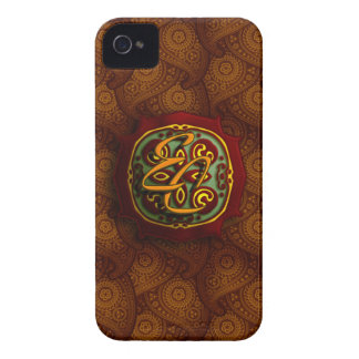 Royal Brown Paisley iPhone 4 Case-Mate Cases