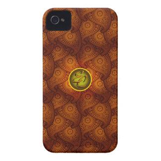Royal Brown Paisley EC iPhone 4 Cover