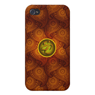 Royal Brown Paisley (EC) Covers For iPhone 4