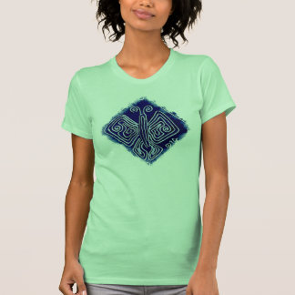 Royal Butterfly on neon green, playful t-shirt
