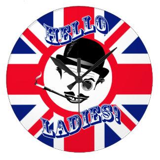 "Royal Cad's Union Jack ""Hello Ladies!"" Clock"
