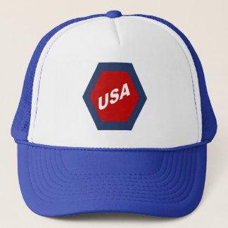 ROYAL CAP TRUCKER WHITE BLUE THE USA SPORT