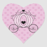 Royal Carriage Envelope Seal Heart Sticker